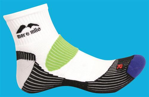 3 x Pairs of More Mile Moscow Black//Orange Running Socks Size 2-5